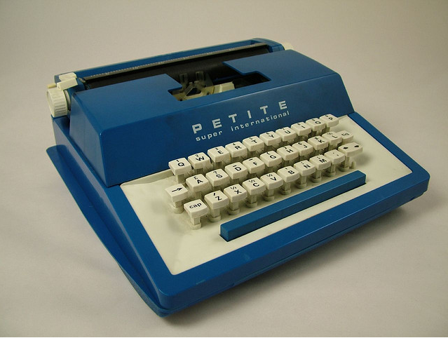 Typewriter. Photo by Steve Berry, Flickr, CC-BY-NC-SA.