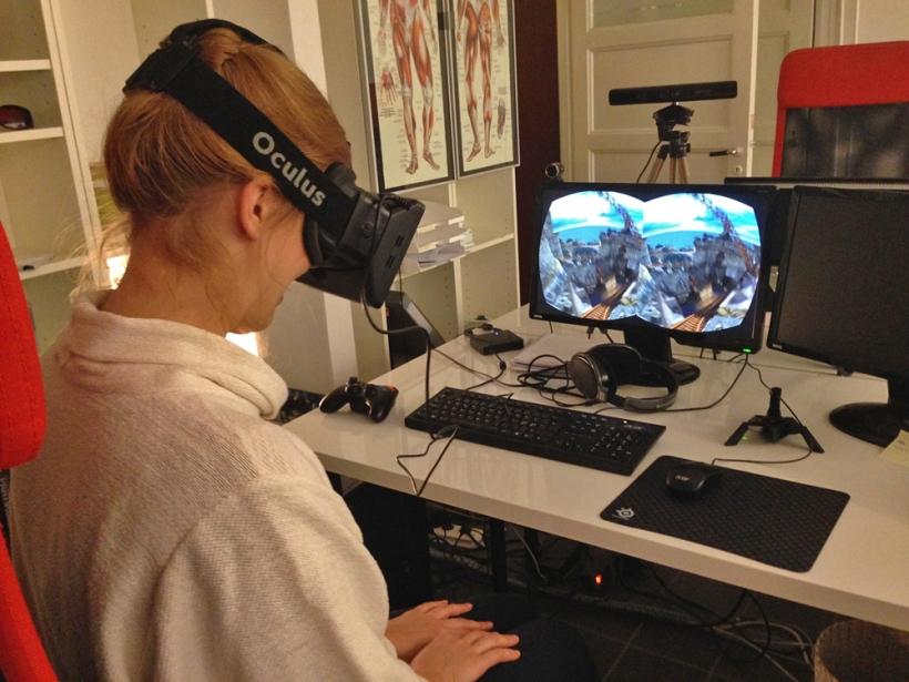 Oculus Rift at Dreamstage.se. Photo: Kajsa Hartig, CC-BY-NC.